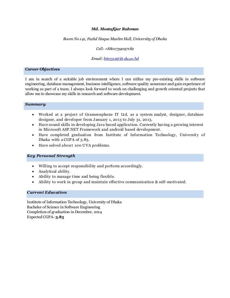Resume download iit