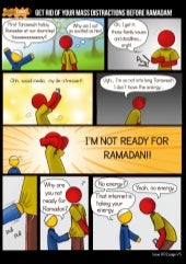 [Ramadan Comic] Get Rid of Your Distractions Before Ramadan: How to Achieve the Spiritual Focus You Want