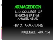 Armageddon gen quiz 2014 by J Ramanand at Mind Palace-Prelims with answers