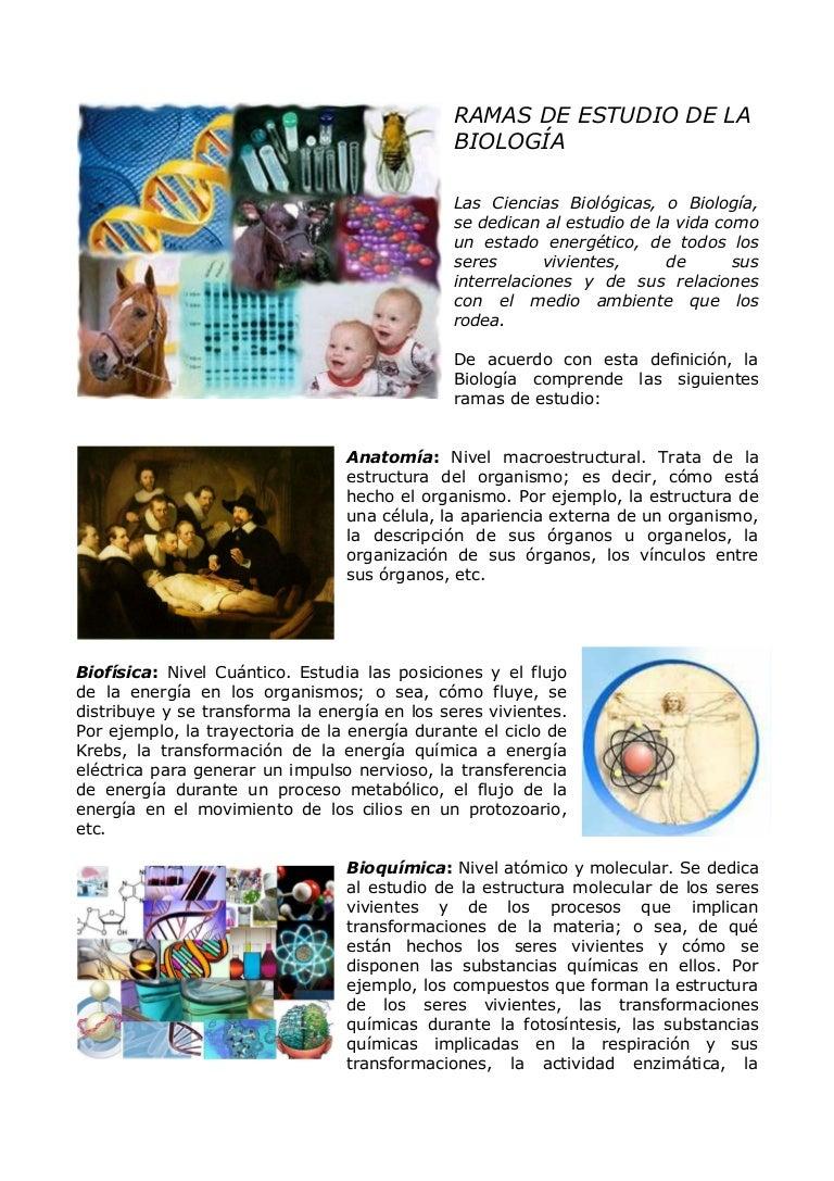 BIOLOGIA GENERAL Y SUS RAMAS