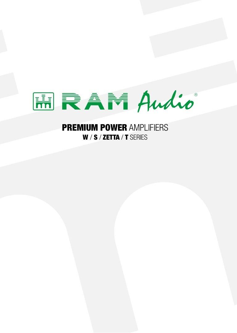 Ram Audio Catalogue Premium Power Amplifiers 58 W Amplifier