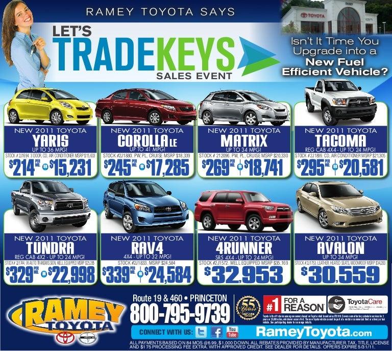 Let S Trade Keys Ramey Toyota Princeton Wv