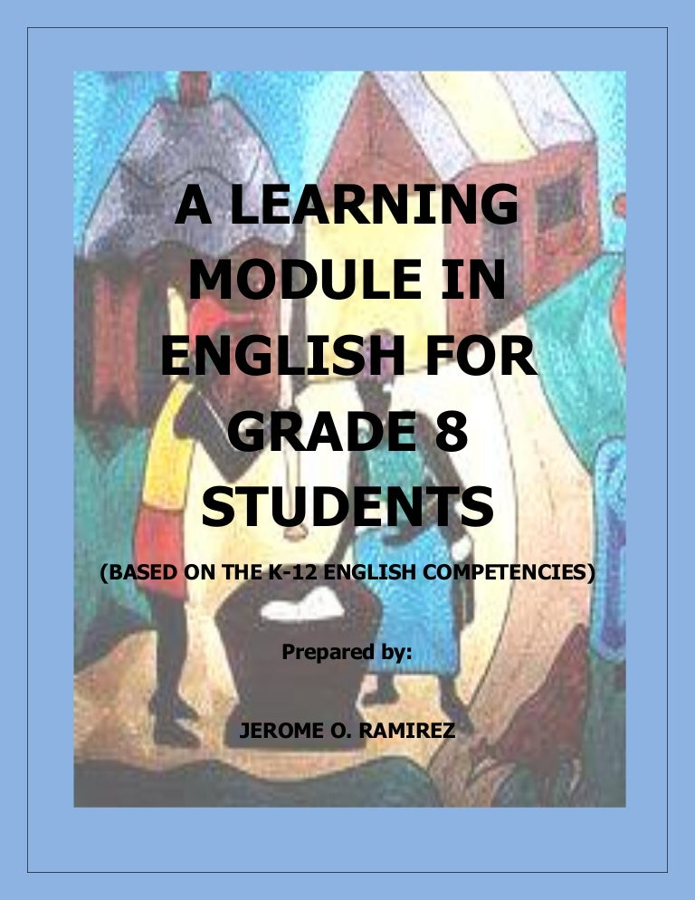 Sample module in elementary english.