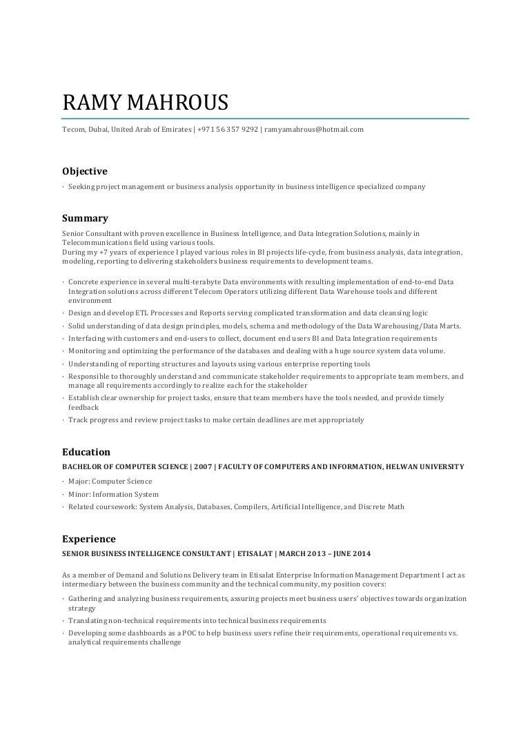 ramy mahrous resume