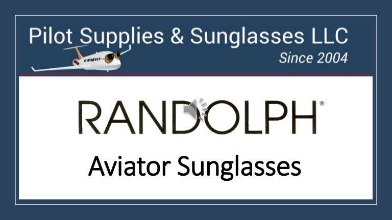 Randolph AF058 55mm 23K Gold Bayonet Gray Polarized Aviator 2018 Sunglasses