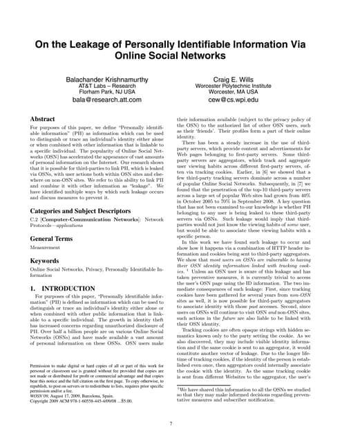 Утечка персональной информации через социальные сети