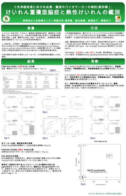 バイオマーカー2011小児神経学会@横浜