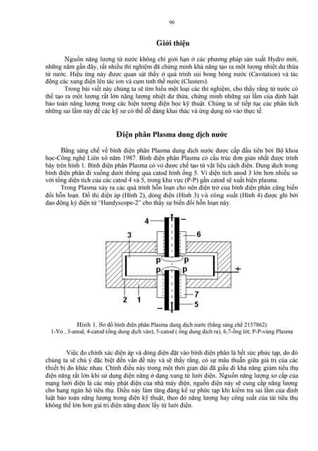 Điện phân plasma dung dịch nước