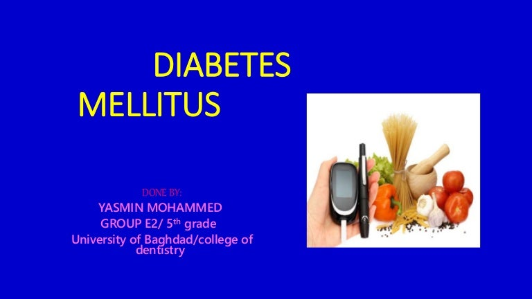 diabetes tipo 1 y 2 slideshare ppt