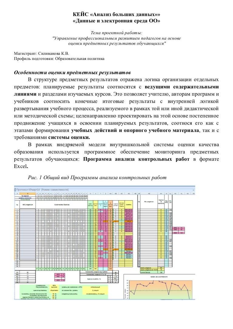 Анализ контрольной работы схема фото 306