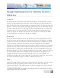 Range Optimization For Battery Electric Vehicles - Article by Will Hornick