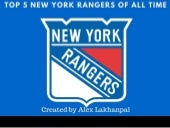 Top 5 New York Rangers of All Time