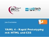 Rapid Prototyping mit YAML4