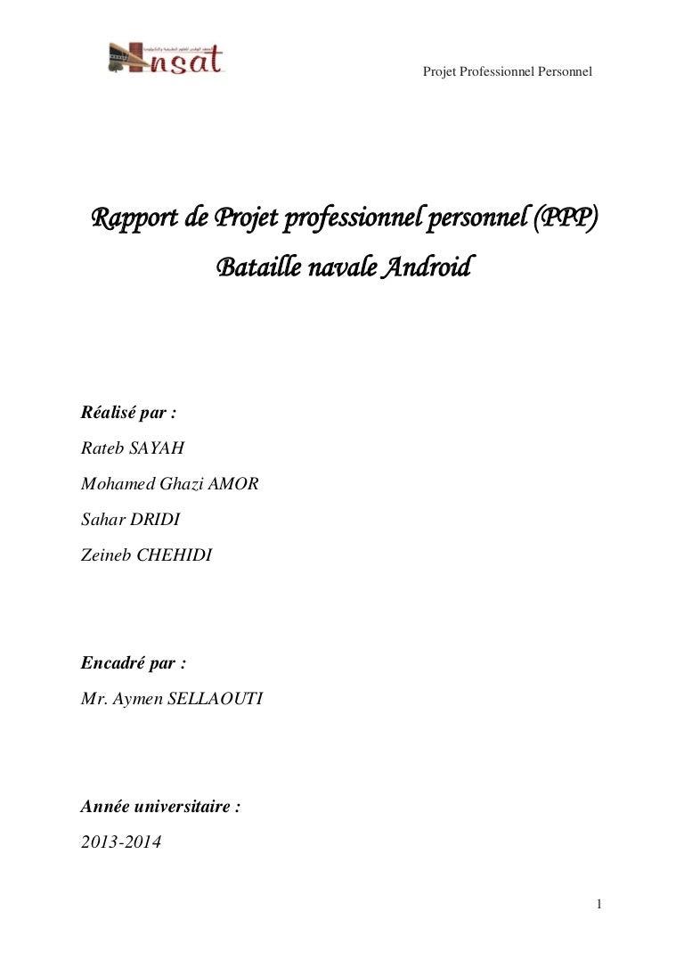 Rapport De Projet Professionnel Personnel Pdf
