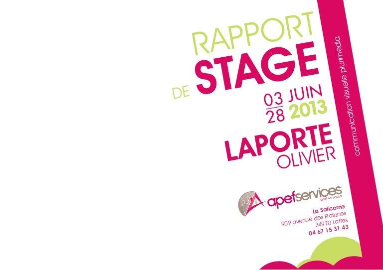 Rapport De Stage Apef Services
