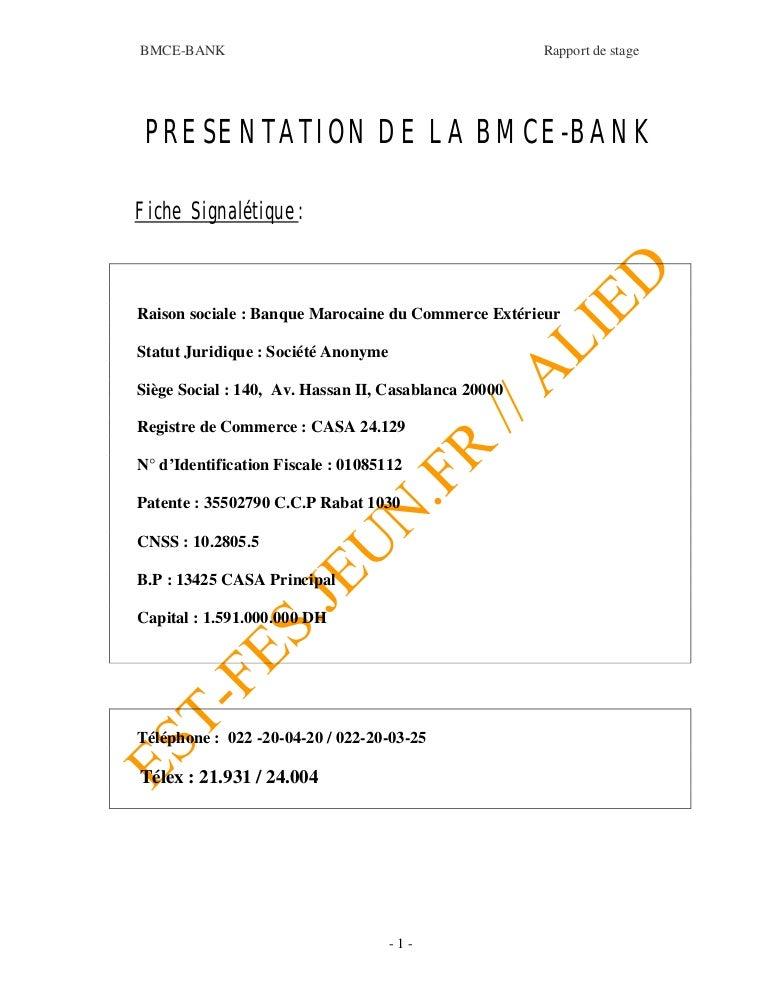 Rapport Bmce 1