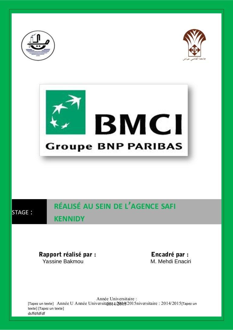 STAGE DE BMCI RAPPORT TÉLÉCHARGER