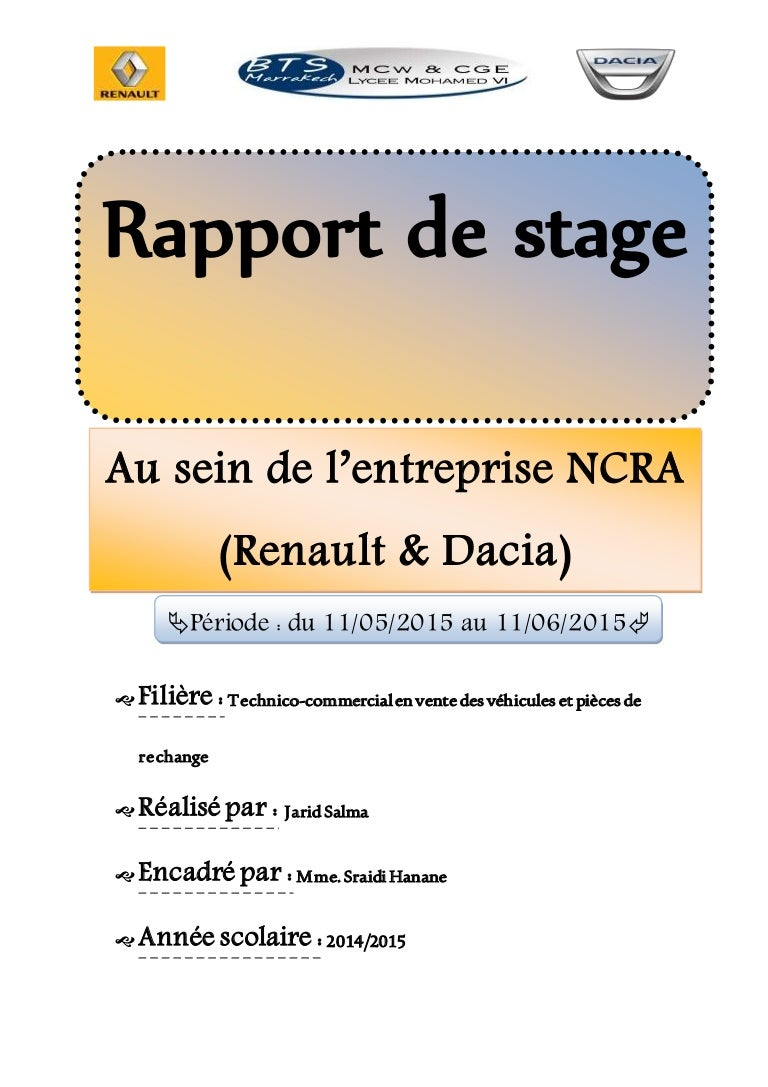 Rapport de stage originale