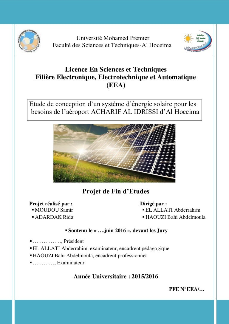 Rapport Du Stage Projet Fin D Etude