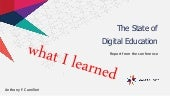 The State of Digital Education: What I learned
