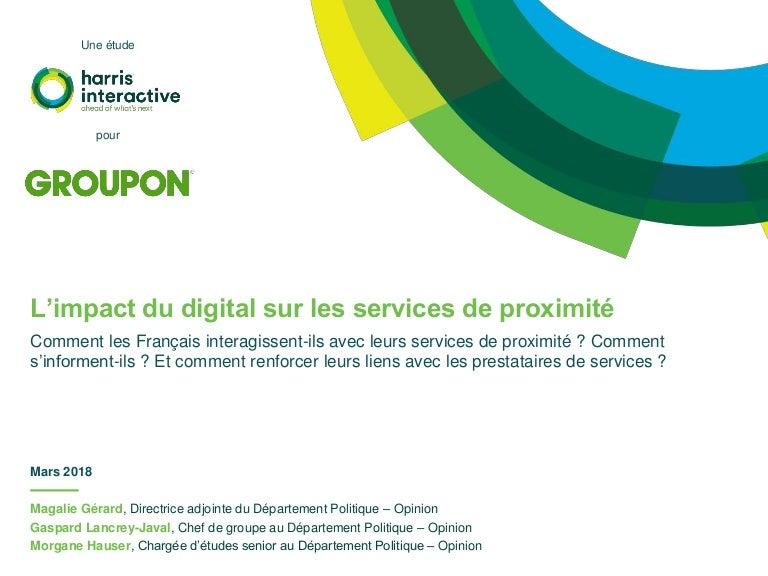 L Impact Du Digital Sur Les Services De Proximite Groupon