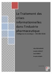 Rapport industrie pharmaceutique
