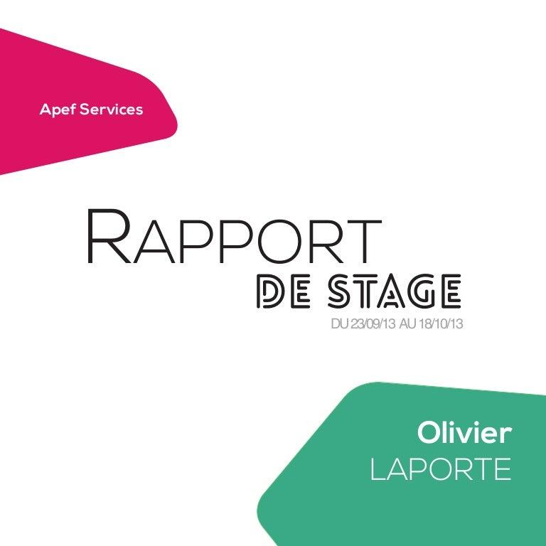 2e Rapport De Stage Apef Services
