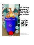 Rare Pokemon QR-Code-Sign
