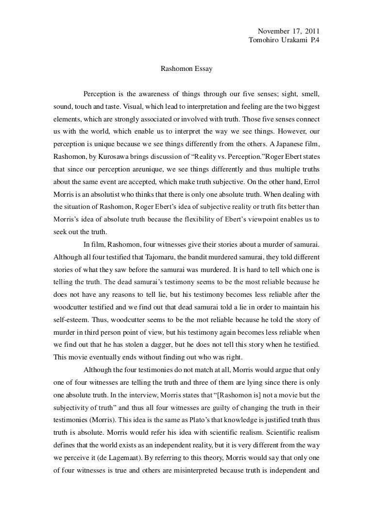 How To Write A Proposal Essay Paper Rashomonessayphpappthumbnailjpgcb How To Write A Proposal Essay Example also Thesis Examples For Essays Rashomon Essay Argumentative Essay Proposal