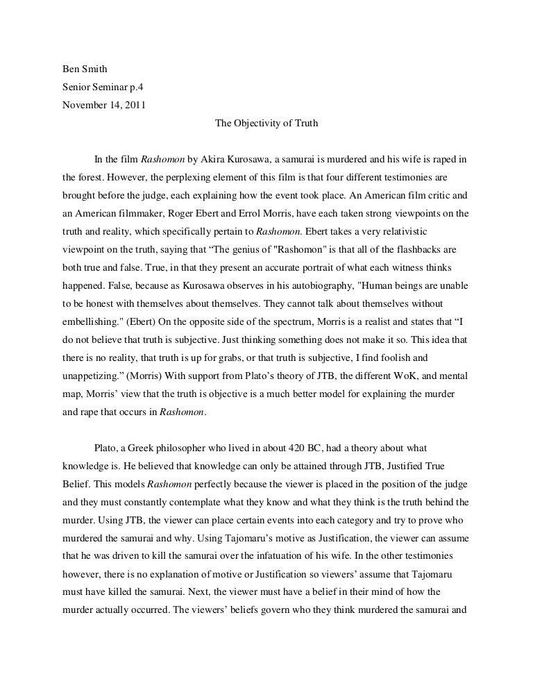 Sample Thesis Essay Rashomon Final Essay English Essay Com also Library Essay In English Rashomon Essay Norman Holland On Akira Kurosawa S Rashomon Rashomon  Short Essays For High School Students