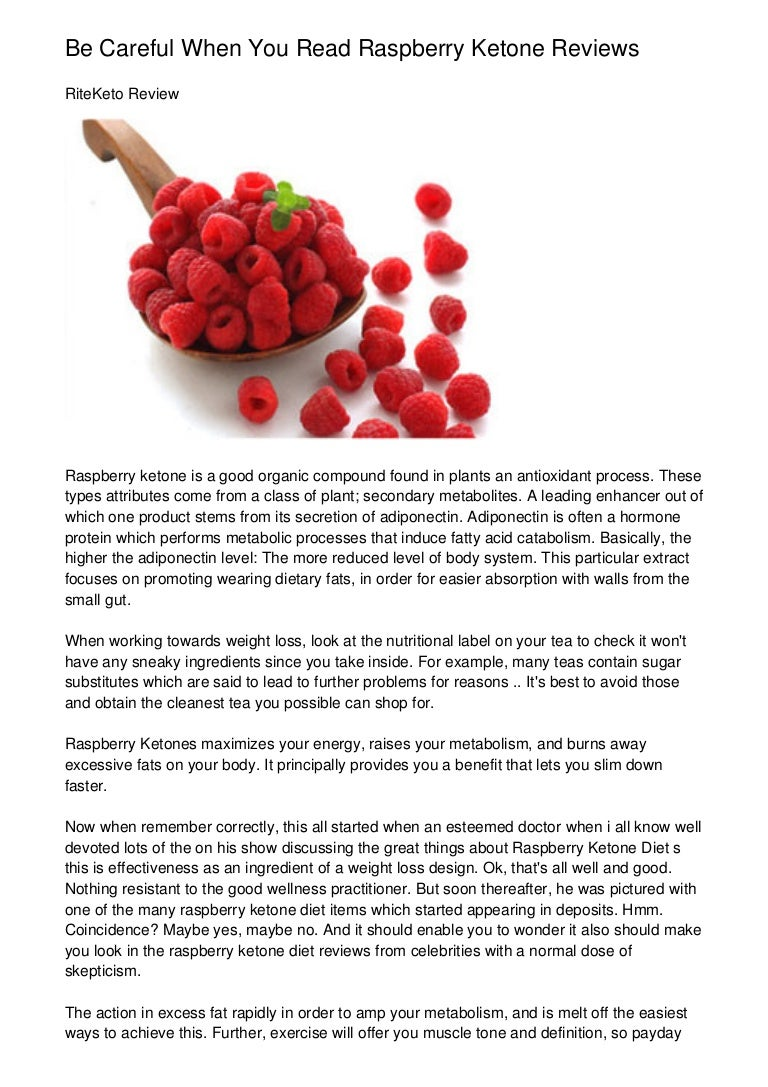 Be Careful When You Read Raspberry Ketone Reviews