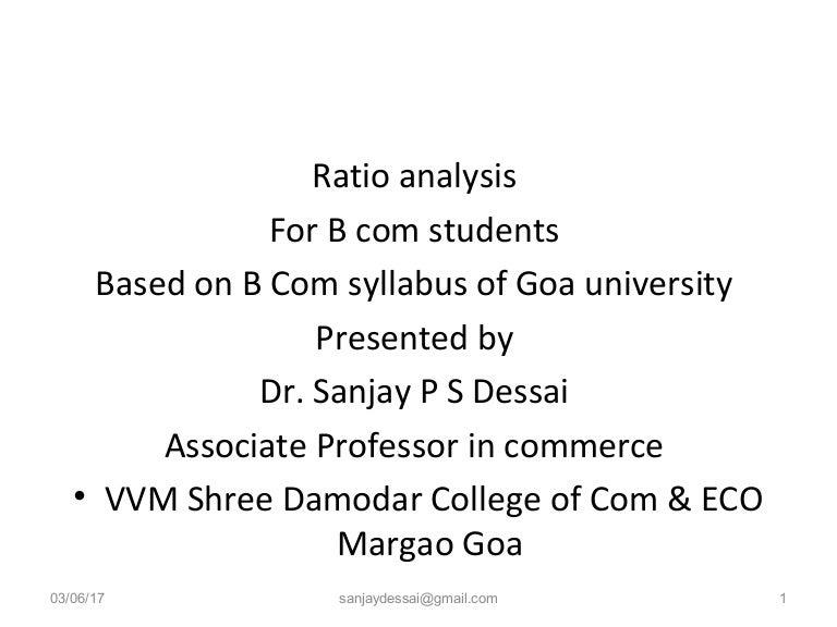 Ratio analysis Financial ratios for B Com students – Financial Ratios Analysis