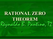 Rational zero of polynomial function
