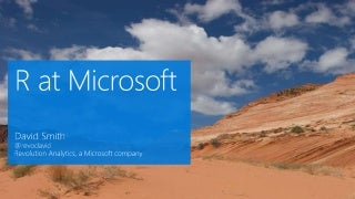 R at Microsoft