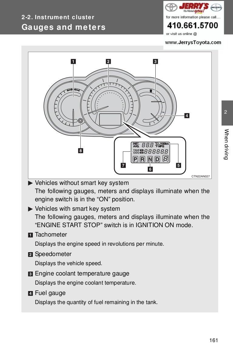 2012 Toyota Rav4 Engine Diagrams Wiring Diagram Libraries 2011 Todays2012 Instrument Cluster 2 5l