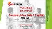 Fundamentals of Solar PV System