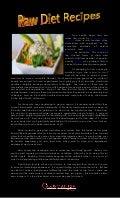 Raw diet recipes