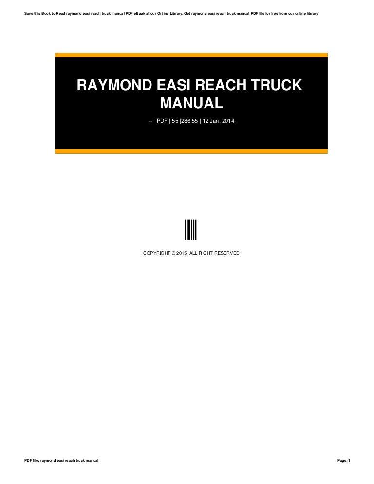 Raymond easi reach truck manual