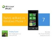 Developing applications for Windows Phone 7