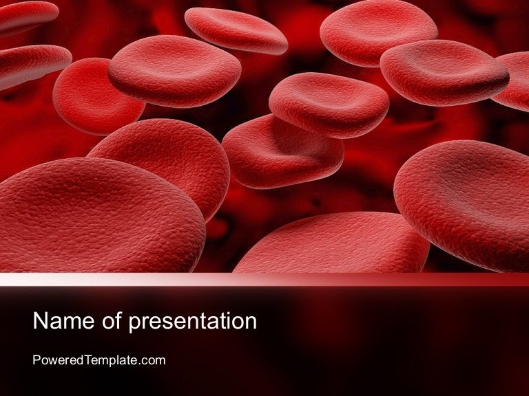 rbc cells powerpoint templatepoweredtemplate, Modern powerpoint