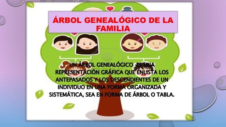 u00e1rbol geneal u00f3gico de la familia