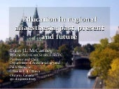 Education for Regional Anaesthesia Past, Present and Future