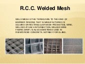 Welded Wire Mesh and RCC Welded Mesh for Construction