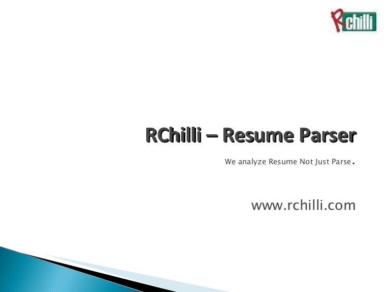 Resume Parser rchilli resume parser a perfect recruiting solution Rchilli Resume Parser Hr Software To Automate Hr Management