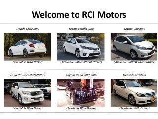 Rent a Car Lahore Without Driver
