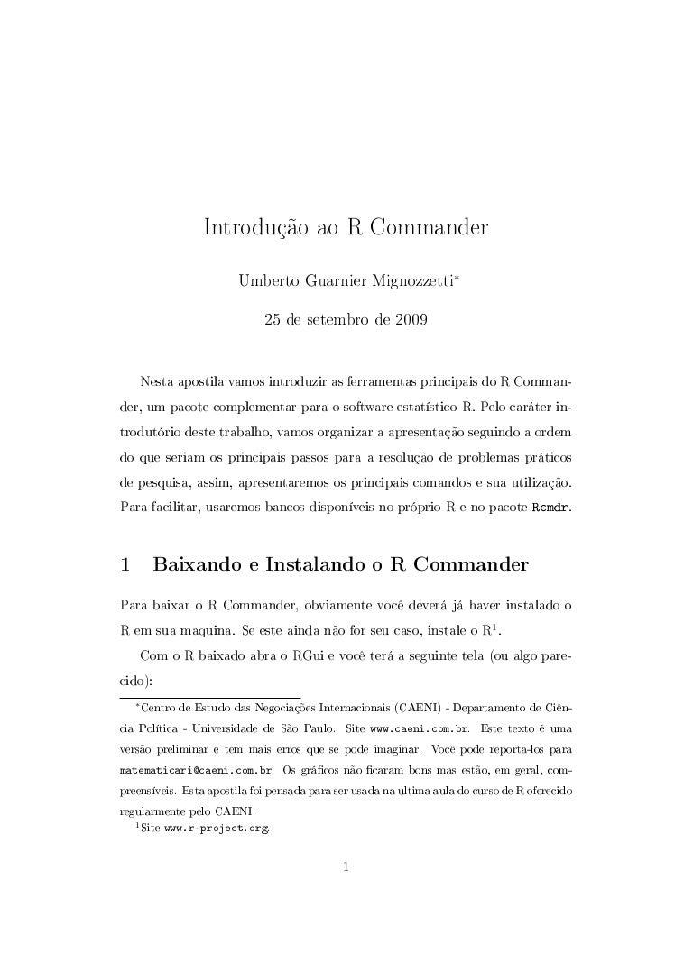 R comamnder pdf