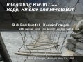 Integrating R with C++: Rcpp, RInside and RProtoBuf