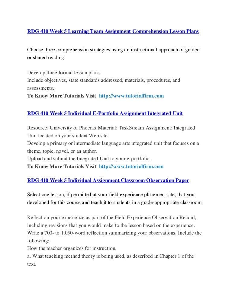 Rdg 410 online help,rdg 410 course tutorials,rdg 410 uop guide