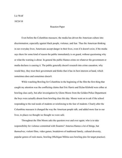 Reaction paper about scarborough shoal
