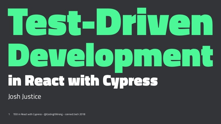 Test-Driven Development in React with Cypress